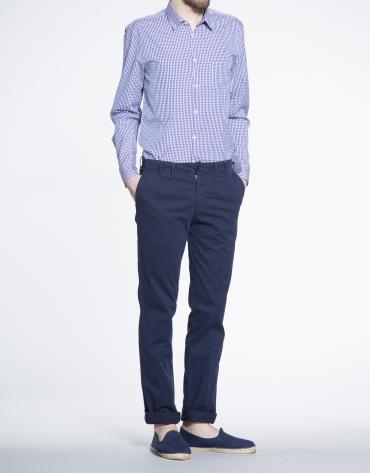 Pantalon ville sergé bleu marine