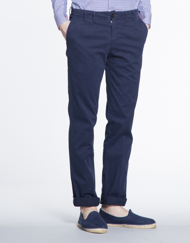 Navy blue  twill sports pants