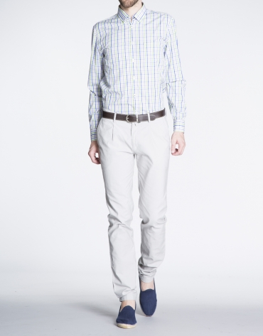 Light grey pique sports pants
