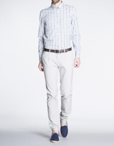 Pantalón gris claro sport canutillo