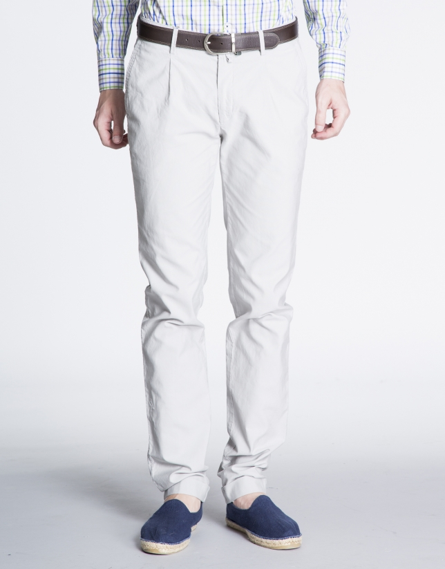 Light grey pique sports pants