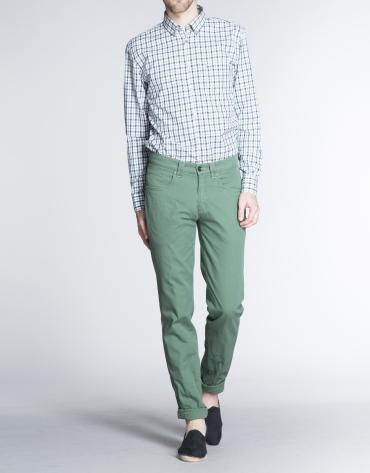 Pantalón verde sport microdibujo