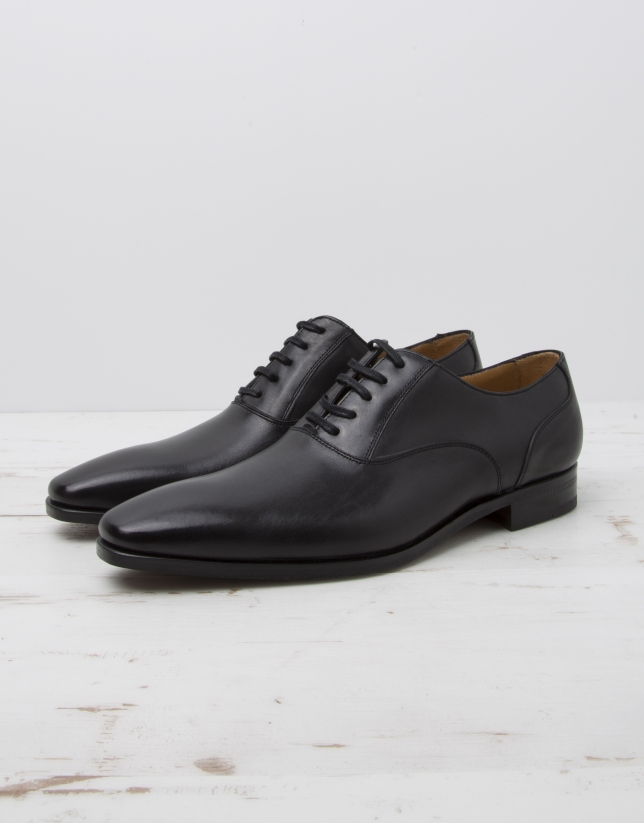 Black dress shoes with laces