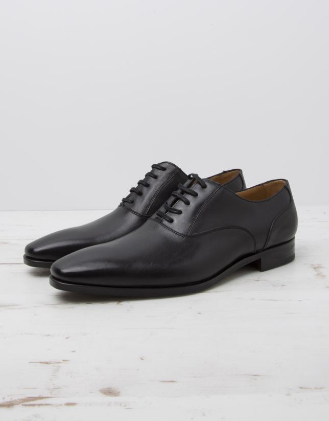 Zapato vestir negro cordones