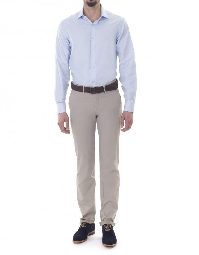Pantalón sport canutillo beige