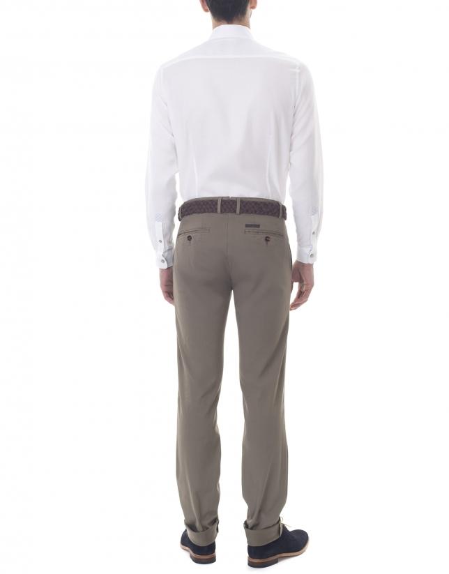 Pantalon ville ajusté kaki