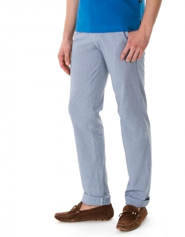 Pantalon ville micro pied de poule