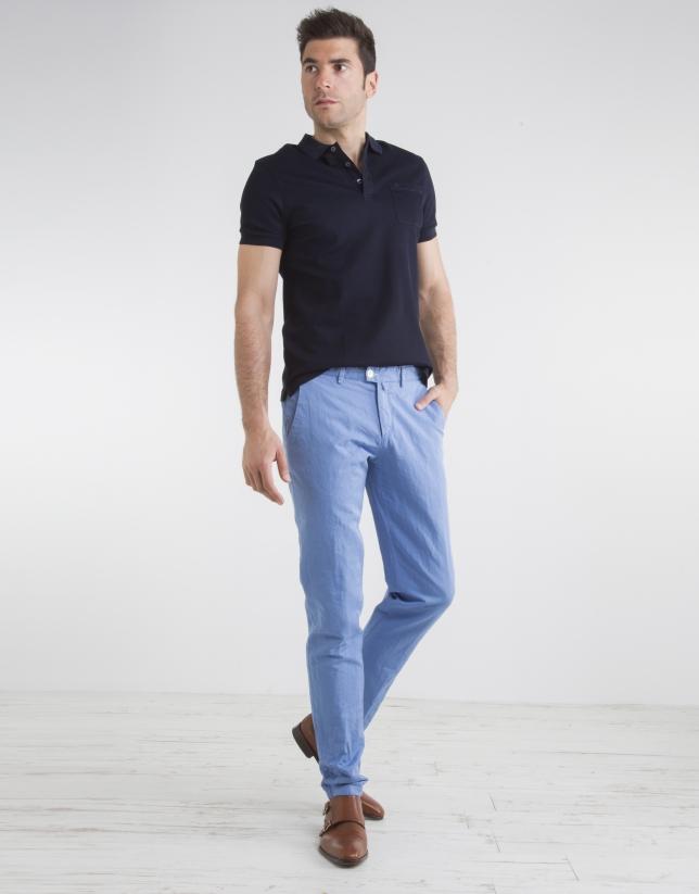 pantalon chino bleu ciel pantalons homme roberto verino. Black Bedroom Furniture Sets. Home Design Ideas
