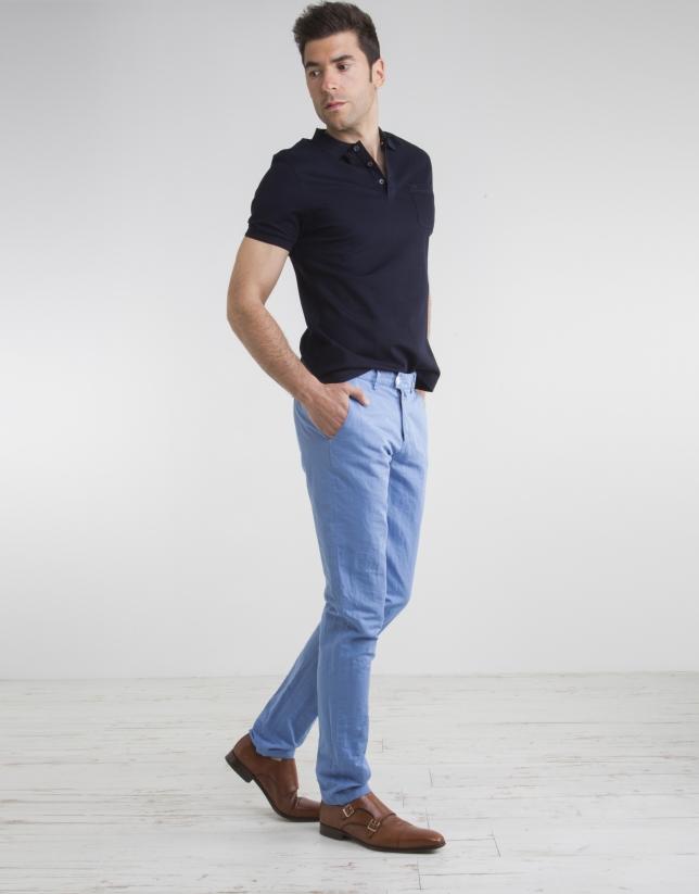 Pantalón chino celeste