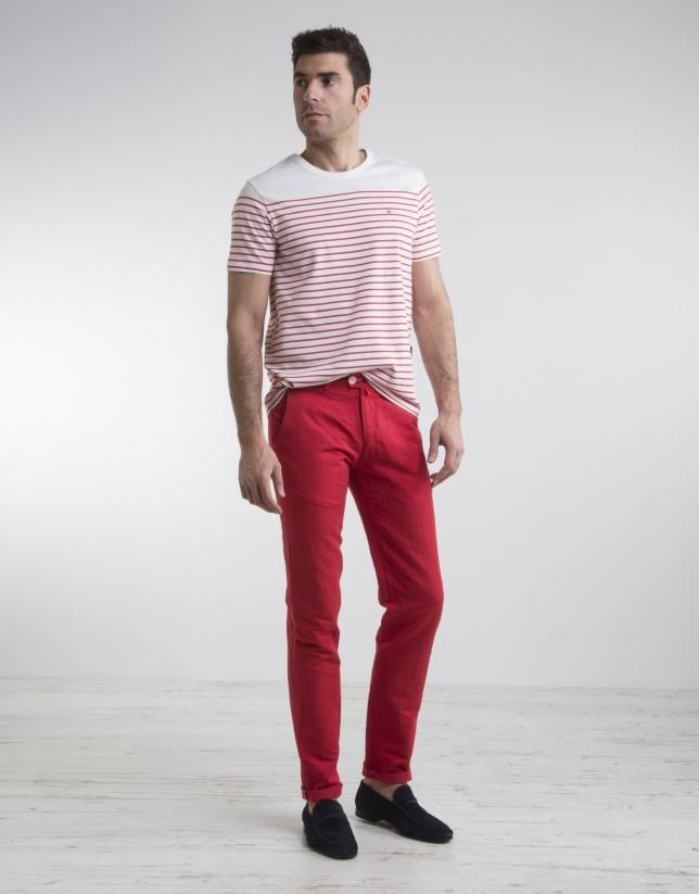 pantalon chino rouge pantalons homme roberto verino. Black Bedroom Furniture Sets. Home Design Ideas