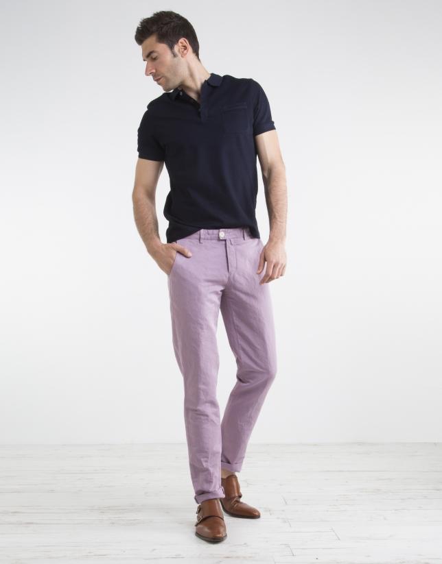 Mauve chino pants