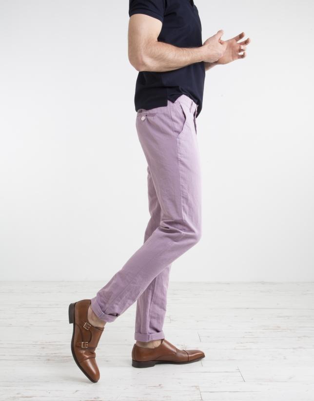 Pantalón chino malva