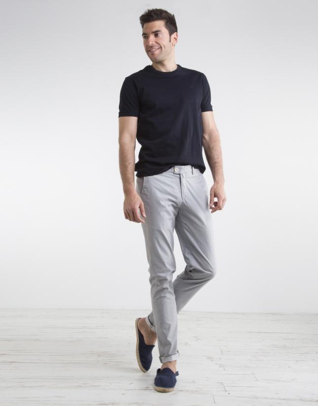 Pinstriped chino pants