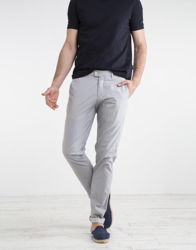 Pantalon chino milleraies