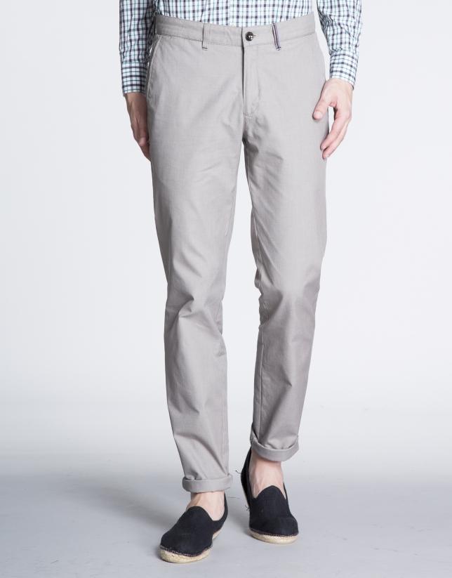 Pantalón beige sport algodón