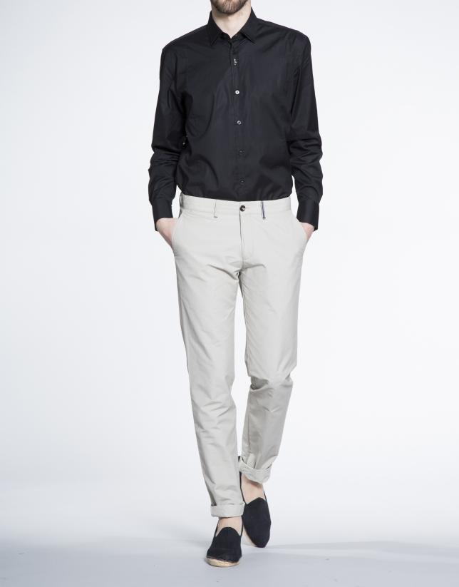 Beige cotton sports pants