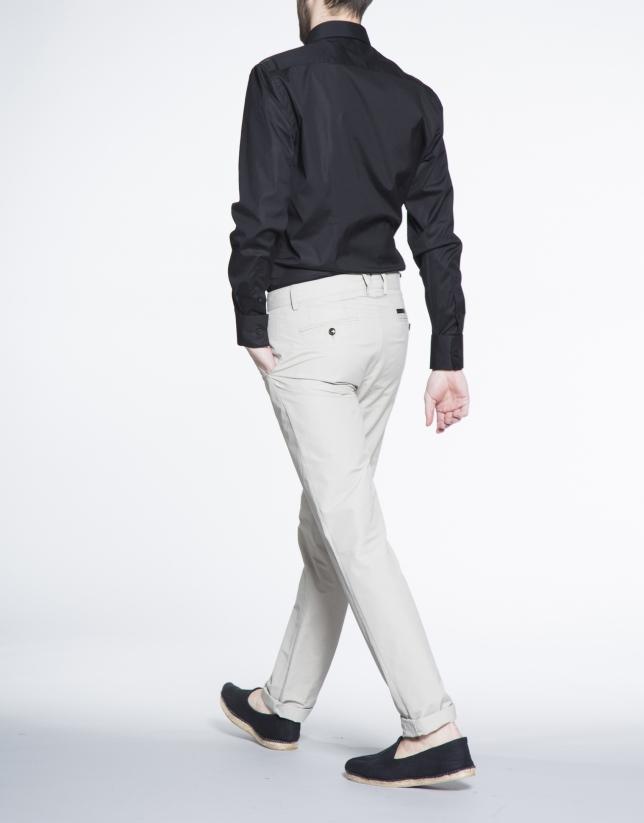 Pantalon ville coton beige