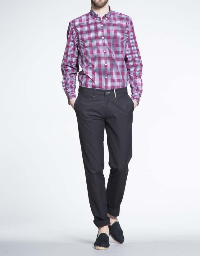 Pantalón azul marino sport algodón