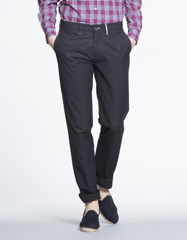 Navy blue cotton sports pants