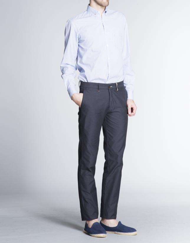 Navy blue light cotton sports pants