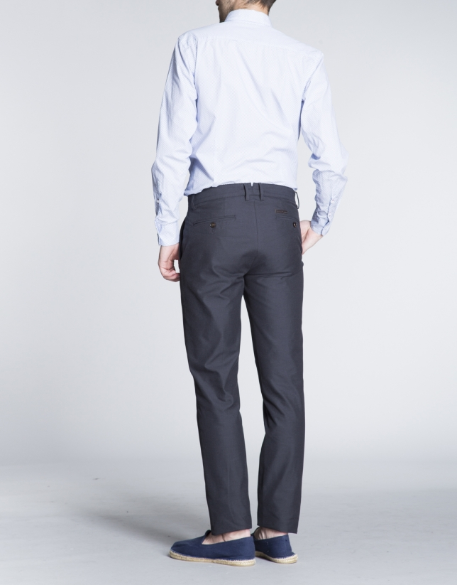 Pantalón azul marino sport algodón ligero