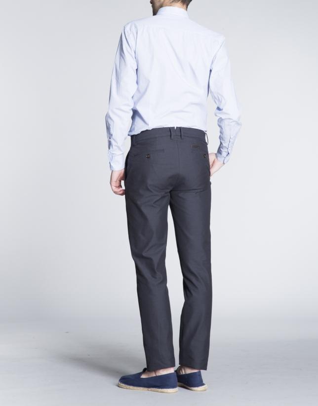 Pantalon ville coton léger bleu marine