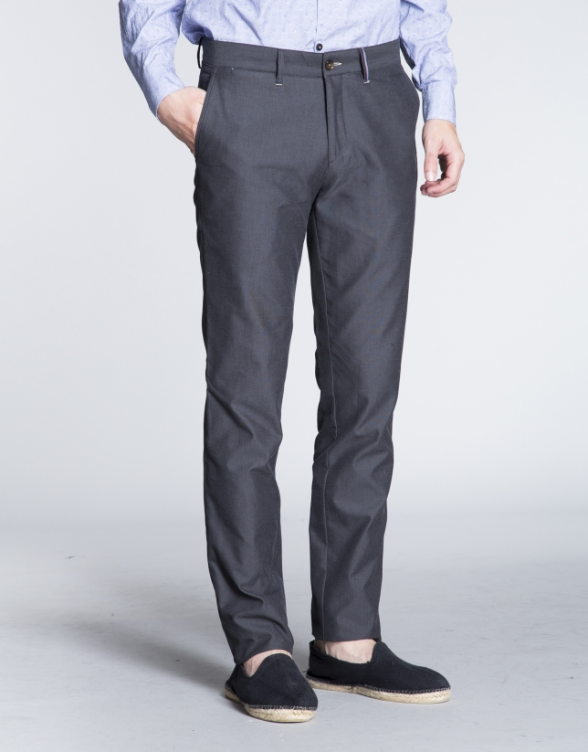 Grey light cotton sports pants