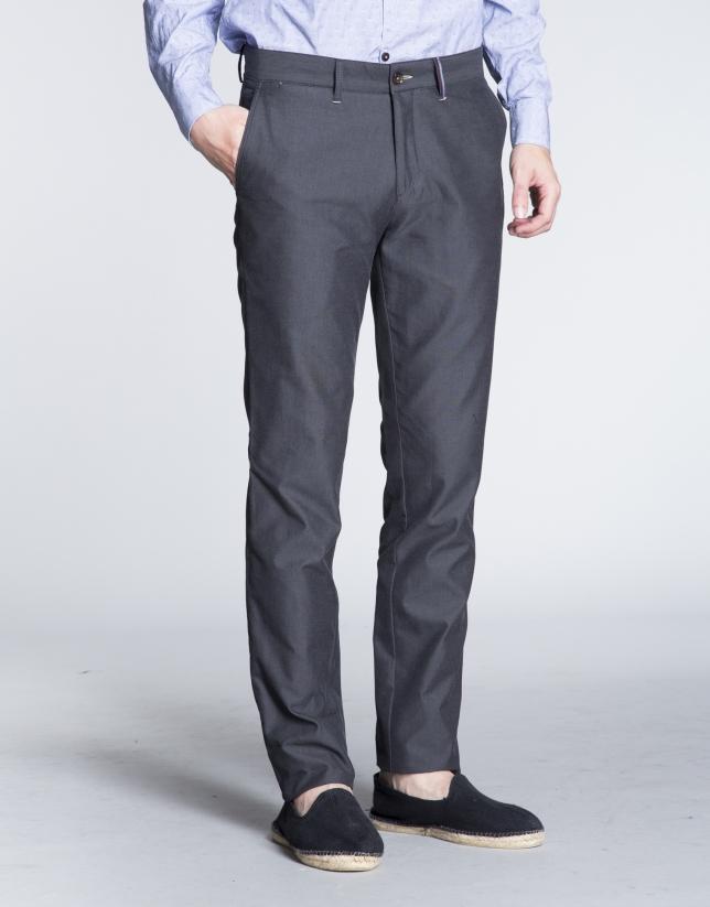 Pantalon ville coton léger gris.