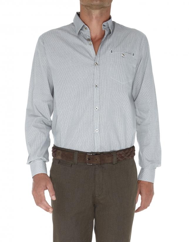 Jacquard sport shirt