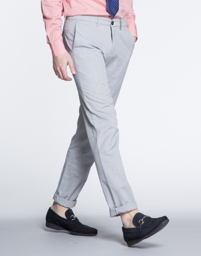 Grey Oxford sports pants