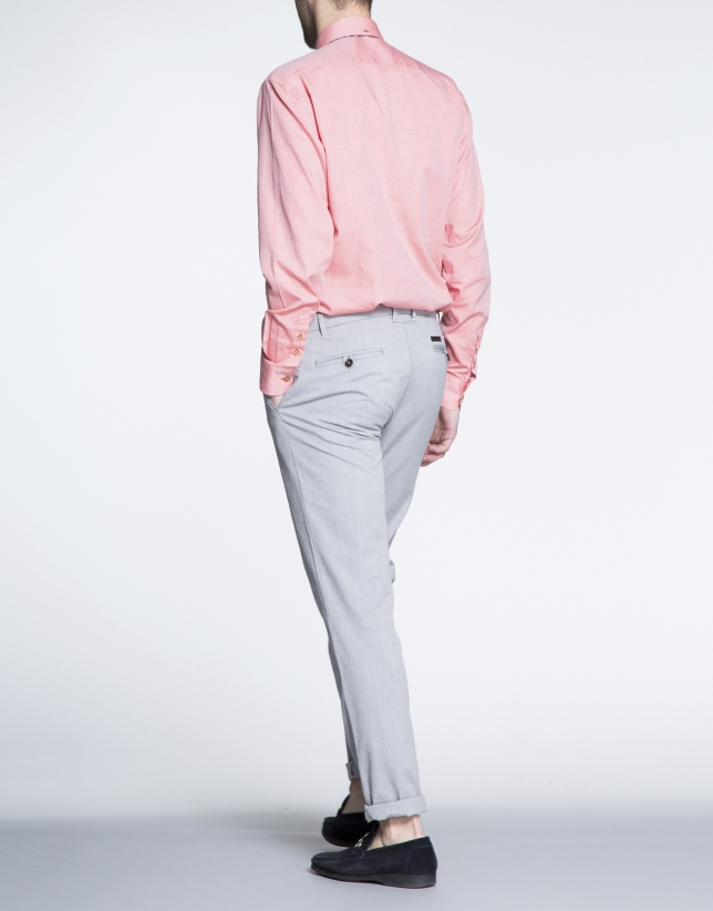 Pantalón gris sport Oxford