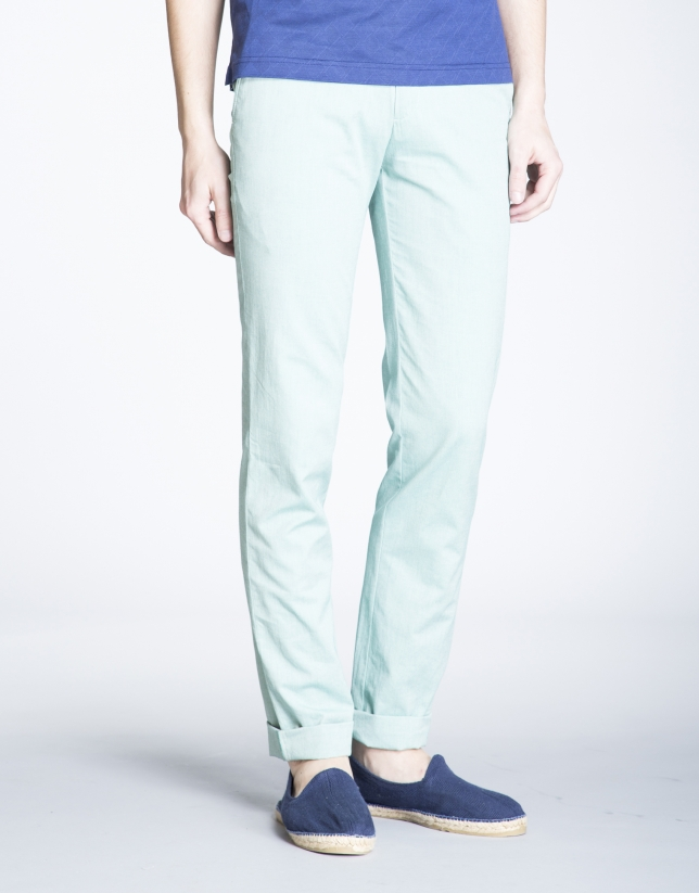 Pantalón verde sport Oxford