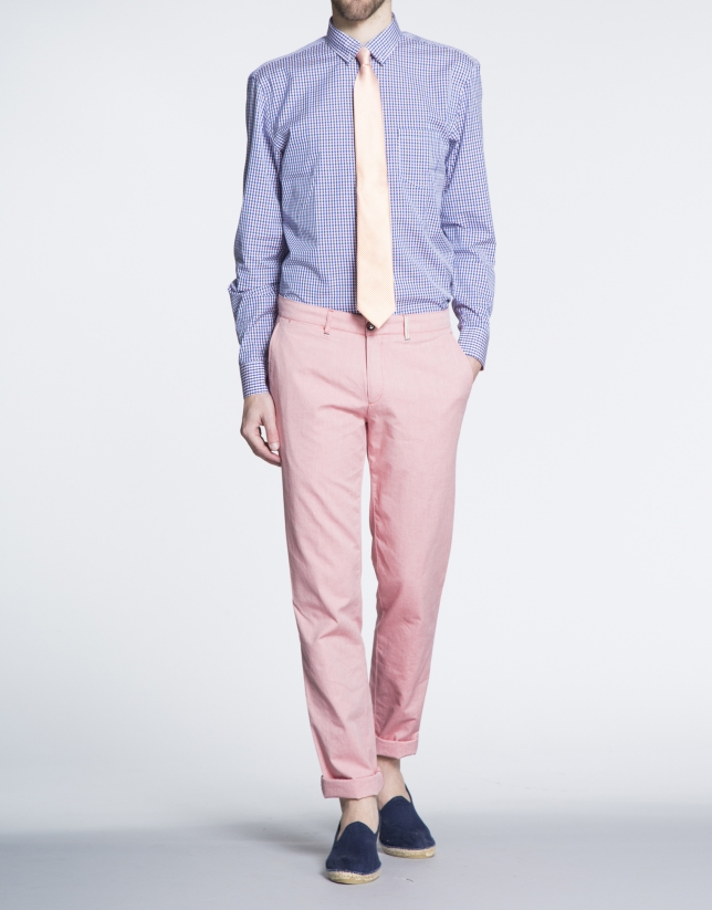 Pantalón color coral sport Oxford