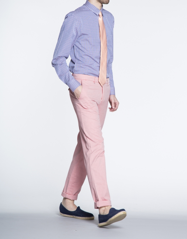 Coral colour Oxford sports pants