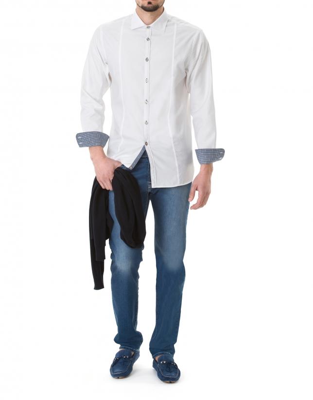 camisa sport jacquard