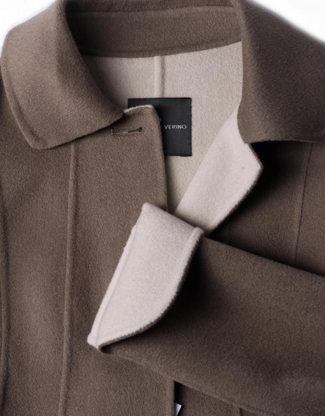 Ivory double-faced jacket
