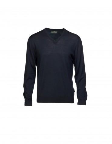 Jersey 100% lana en azul