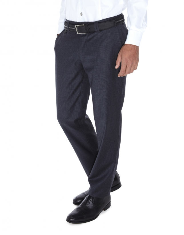 Pantalon ville, pied de poule