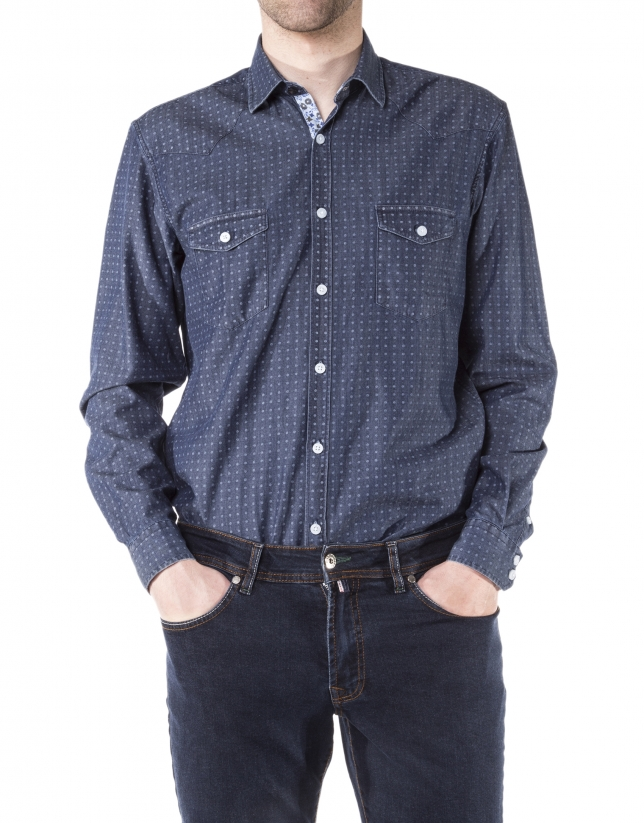 Camisa tejana estampada