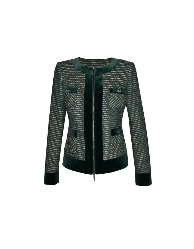 Bottle green tweed jacket
