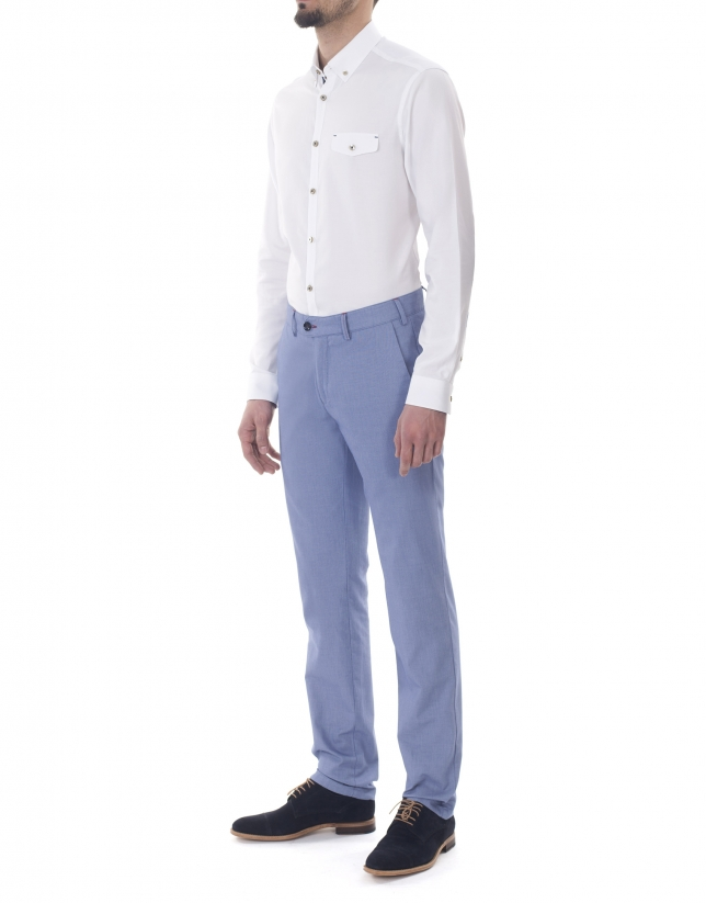 White Oxford sport premium fit shirt
