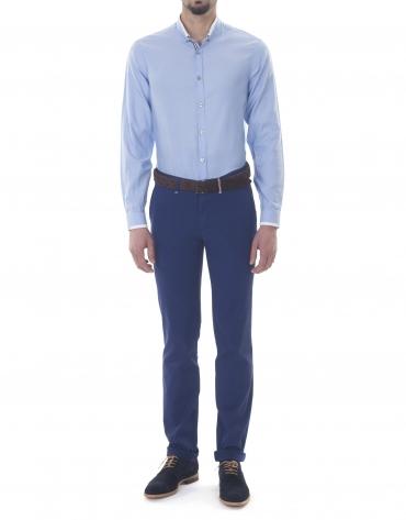 Blue Oxford sport premium fit shirt