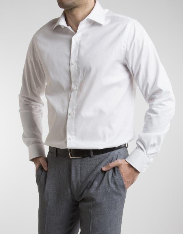 Chemise de costume diamant blanche
