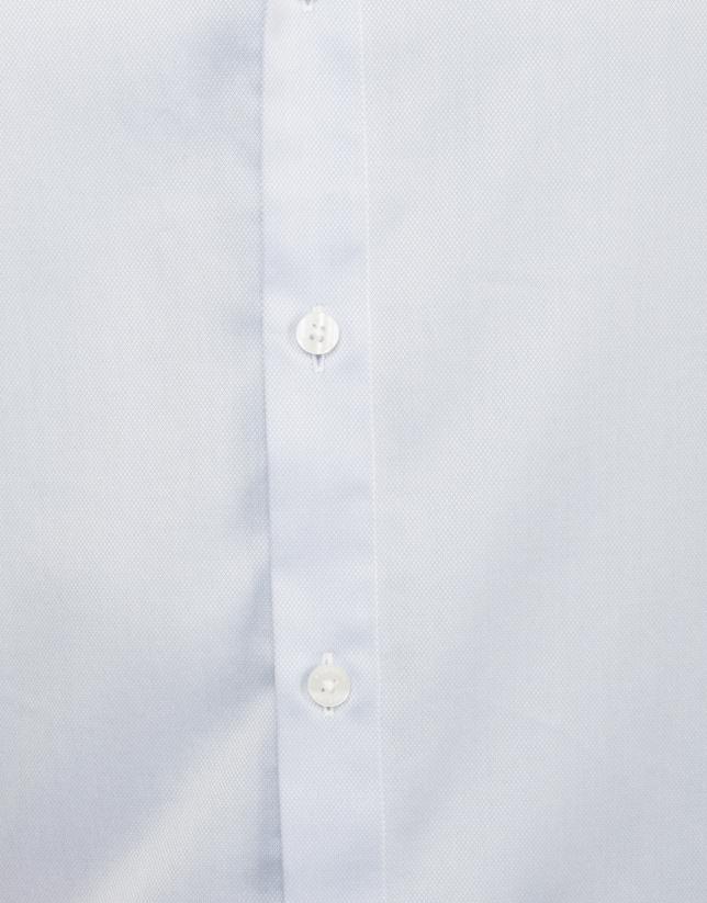 Camisa de vestir microestructura celeste