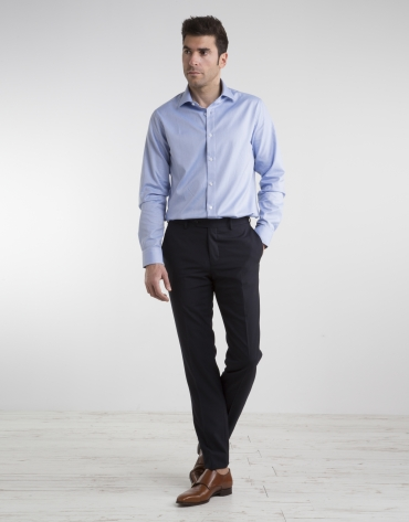 Chemise de costume Oxford bleu ciel