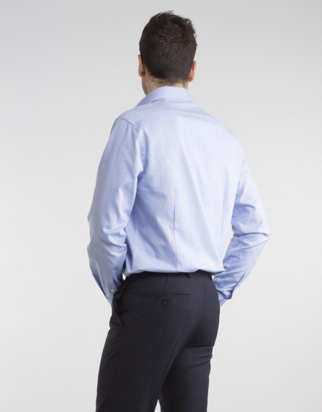 Camisa de vestir Oxford celeste