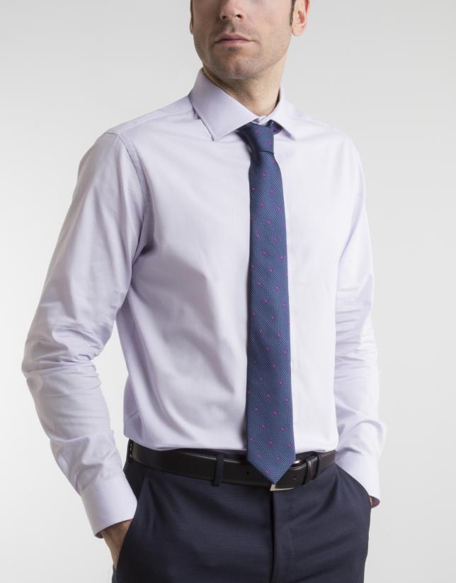 Chemise de costume Oxford mauve