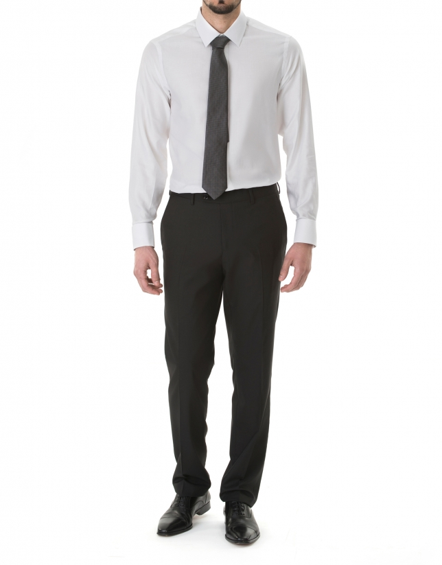 Chemise costume blanche micromotifs homme roberto verino - Chemise costume homme ...