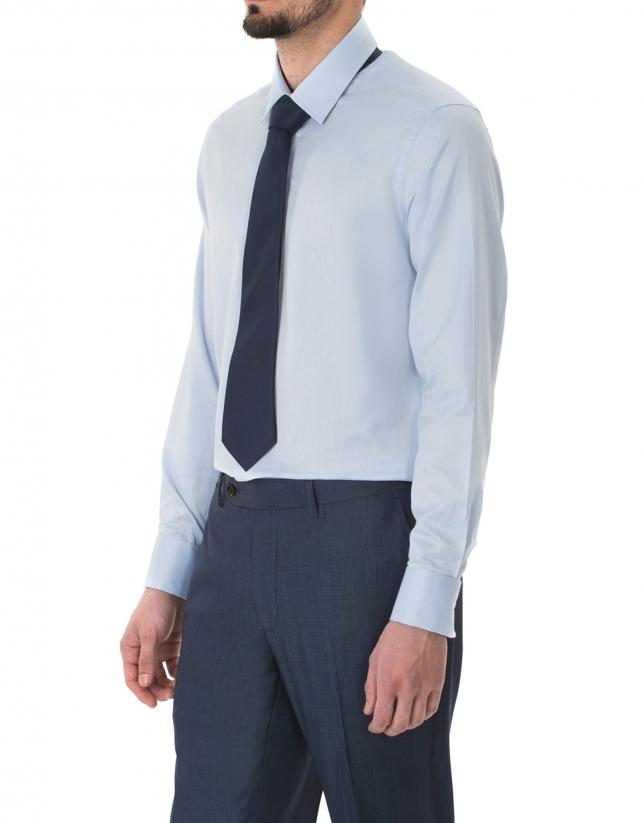 Light blue microprint dress shirt