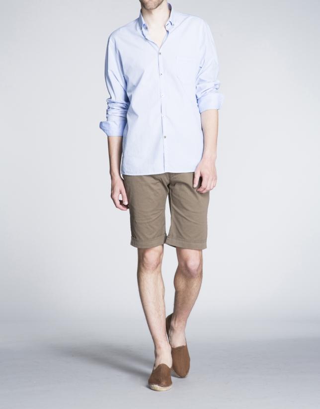 Bermuda vert kaki, poche italienne.